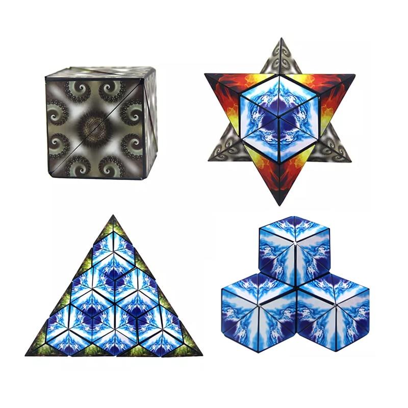 Euclidean Cube 4 In1 Geometrische Magic Transforming Puzzel Magnetische Fidget Euclid Infinity Anti Stress Nieuwigheid Speelgoed Combineren Blokken Hoge Standaard In Kwaliteit En HygiëNe