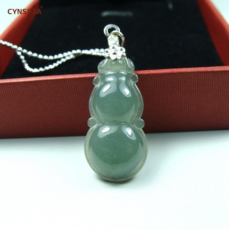 CYNSFJA Real Rare Certified Natural A Grade Jadeite Birmanês Amuletos de Gelo Pingente de Jade Verde Esculpido À Mão de Alta Qualidade Os Melhores Presentes