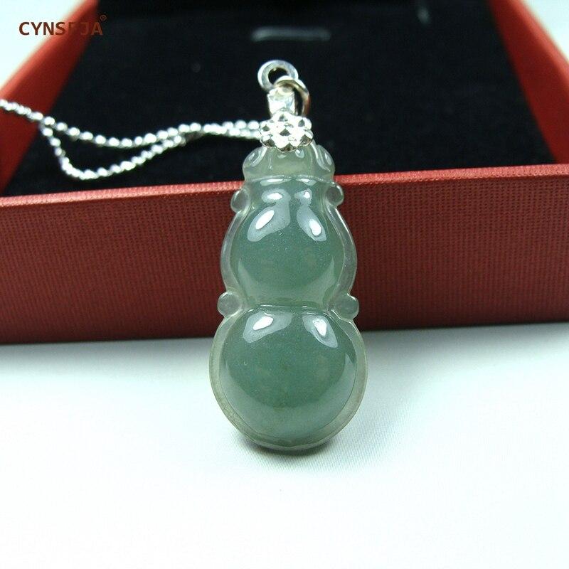 CYNSFJA vrai Rare certifié naturel A Grade birman Jadeite amulettes glace vert Jade pendentif sculpté à la main de haute qualité meilleurs cadeaux