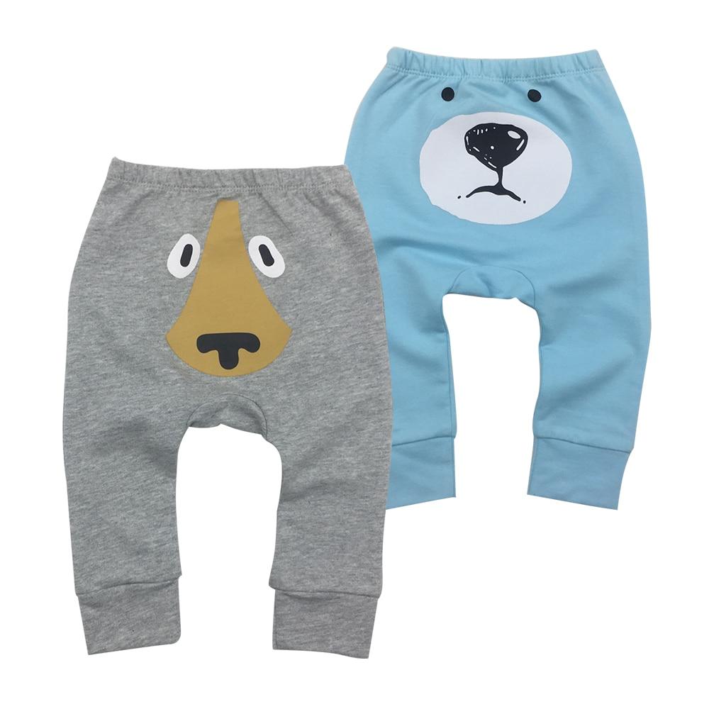 Hot sale Baby Pants Cotton Soft Boys Girls Long Trousers Infantil Toddler Cartoon Animal Cute PP Harem Pants  kids clothing
