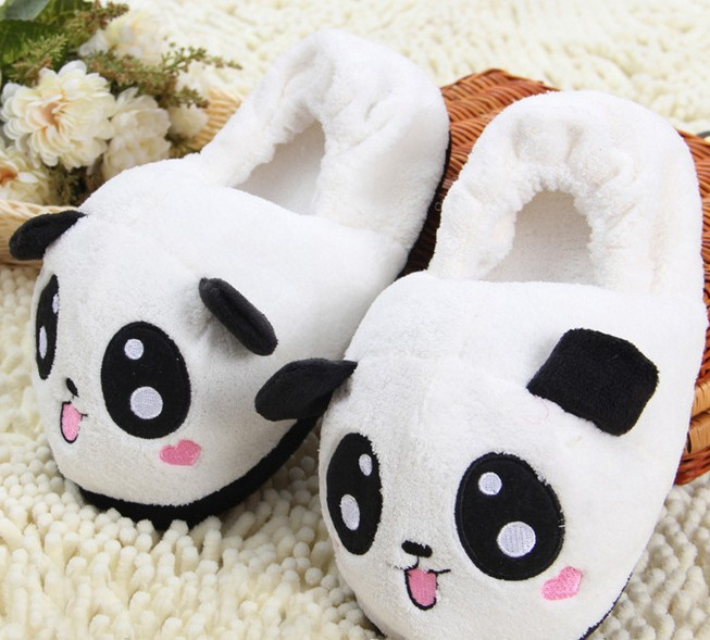 a5b35762b3e17 US $19.99 |HKSNG Winter Animal Adult Warm Pikachu Shark Panda Stitch  Slippers Paw Claw Indoor Floor Home Shoes Christmas Gift-in Shoes from  Novelty & ...