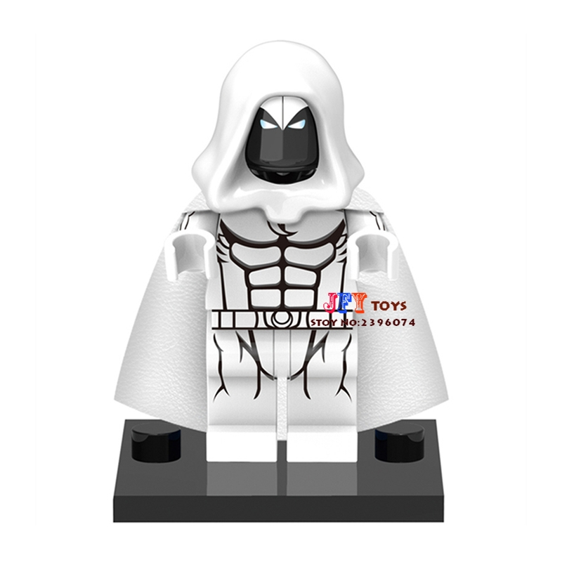 50pcs superhero Moon Knight building blocks bricks friends for girl boy kids children toys brinquedos menina