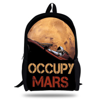 2019 Occupy Mars SpaceX Starman Backpacks for Teenage Boys&Girls Elon Musk Printing Children Laptop School Bag Rucksack
