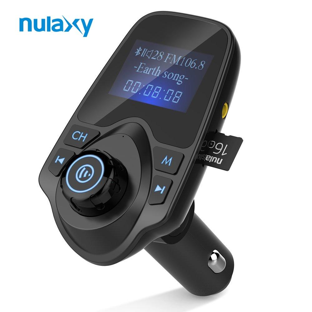 Nulaxy MP3 Player De Áudio Do Carro FM Modulador Transmissor FM Bluetooth Car Kit Mãos Livres com Display LCD 5 v 2.1A USB carregador de carro