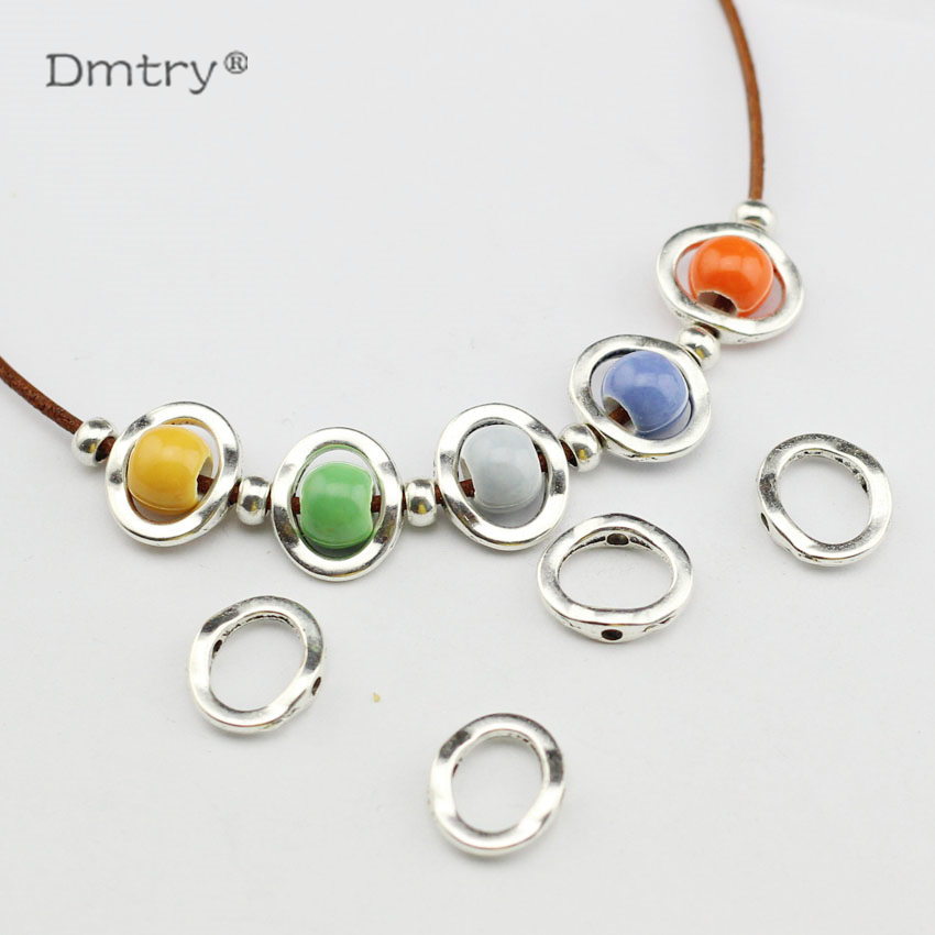 Dmtry 20pcs Spacer For Use With 1.5MM Round Leather Rope New Design Bijoux Charms For Necklace Bracelet Earring Jewelry LC0110