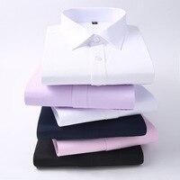 Men Long Sleeve Shirt 2018 Spring New Brand Solid Color Business Office Formal Men Dress Shirt