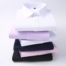 Men Long Sleeve Shirt 2019 Spring New Brand Solid Color Business Office Formal M