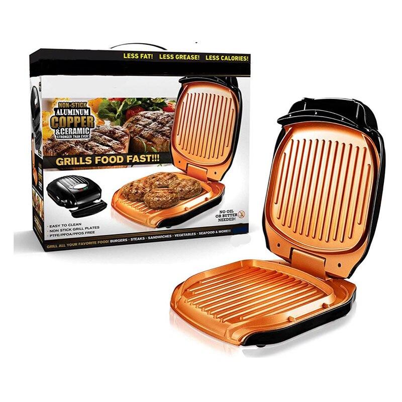 Grille électrique antiadhésive facile à nettoyer Drains rapide 4-service plaque amovible gril et Panini presse outil de cuisine livraison directe