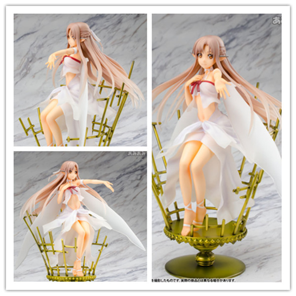 Anime Figure 22 CM Sword Art Online Asuna Fairy Dance 1/8 Complete PVC Action Figure Collectible Toy