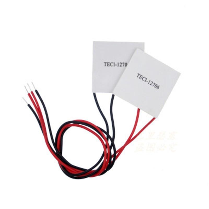 TEC1 12706 TEC Thermoelectric Cooler Peltier tec1-12706 12V 6A TEC1-12706 1pcs water cooling block 50x50x12mm 1pcs cooler peltier tec1 12706