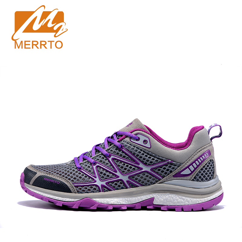 MERRTO Outdoor Breathable Running Shoes Women Cushioning Running Shoes Cushioning Sneakers Female Trainers Sport Shoes Sneakers mulinsen men s running shoes blue black red gray outdoor running sport shoes breathable non slip sport sneakers 270235