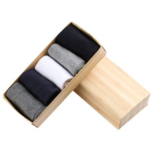 5Pairs lot New Fashion Men s Multicolor Pack of Formal Thick Warmer Socks 100 Mid Calf