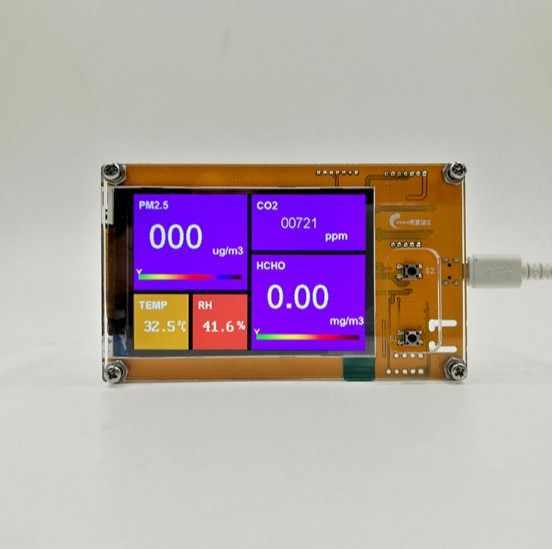 Panneau d'essai professionnel PM2.5 détecteur de température et d'humidité du formaldéhyde détecteur de qualité de l'air domestique PMS5003