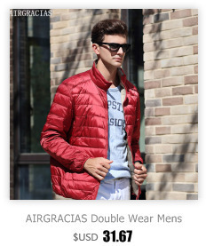 82012df597e AIRGRACIAS 2018 Высокое качество Мужская теплая куртка легкая тонкая ...