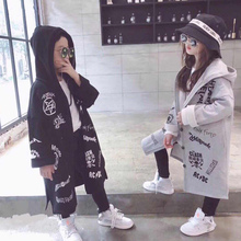 Baby girl baby boy sweater 2019 hot new spring and autumn Korean version of the big children's fashion hooded loose long coat цена