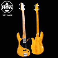 Wooden Handcrafted Miniature Guitar Model Bass 007 Bass Guitar Display with Case and Stand (Not Actual Bass! for Display Only!)