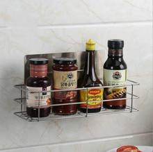 Magic Sticker Stainless Steel Bathroom Shower Caddy Basket Kitchen Spice Rack Storage Organizer Shelf Household Items стоимость