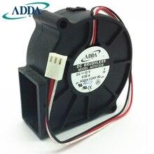 ADDA AD7512UB  DC 12V 0.52A 6.24W 7530 75*75*30mm 3 Wires  Turbo Cooling Fan free shipping