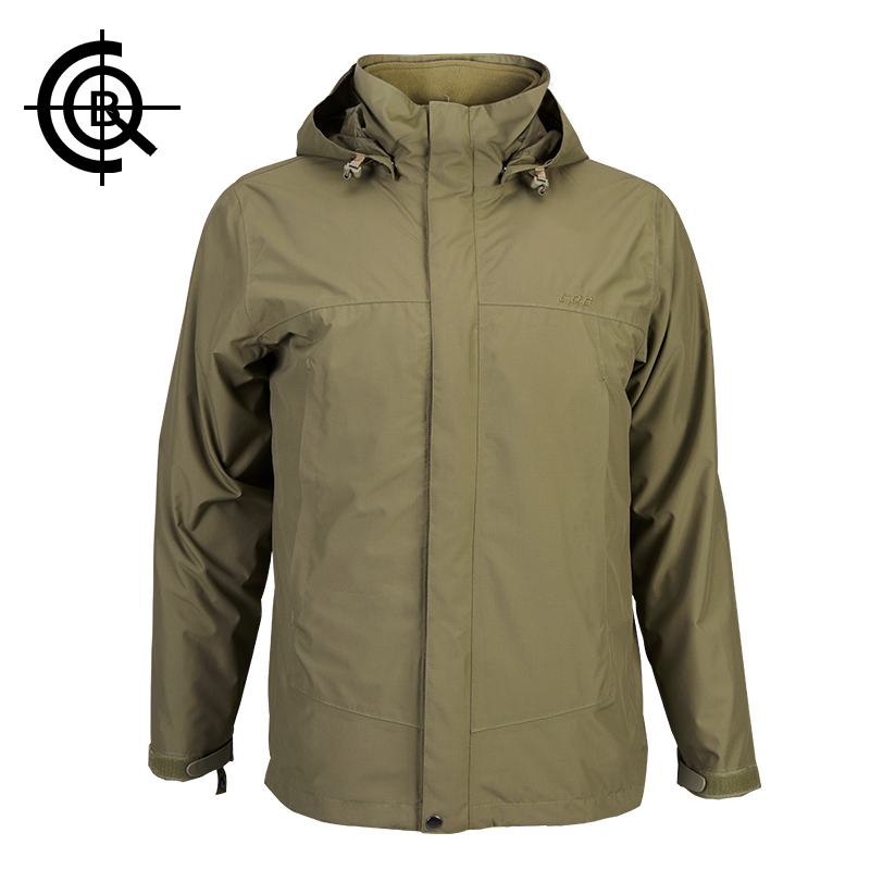 CQB Winter Jacket Men Two-piece Outdoor Jacket Hunting Clothes Thermal Waterproof Breathable Tactical Overcoat 3XL CYF055