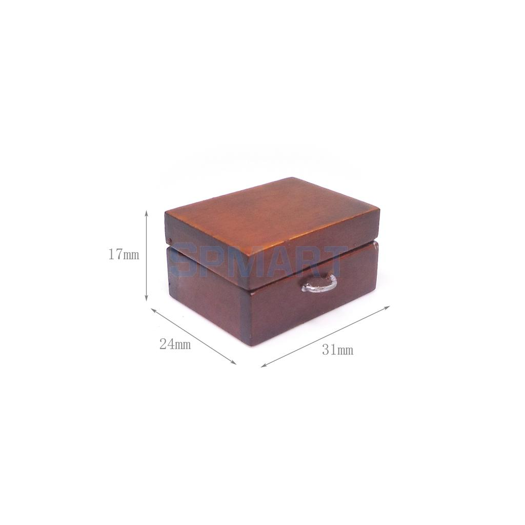 1:12 Funny Dollhouse Miniature Wood Medical Aid Tool Box for Doctor Doll Hospital Decoor