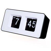 COFA Retro Auto Flip forma quadrata Orologio Moderno LCD Digitale Orologio Da Parete Da Tavolo Desktop Alarm Clock