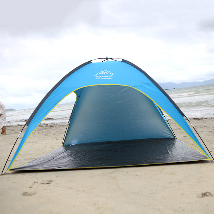 STARHOME 3 4 Person Beach Tent Outdoor Three-season Waterproof Tent Camping Tent Family starhome 2 3 person camping tent single layer waterproof beach tent large outdoor family tent