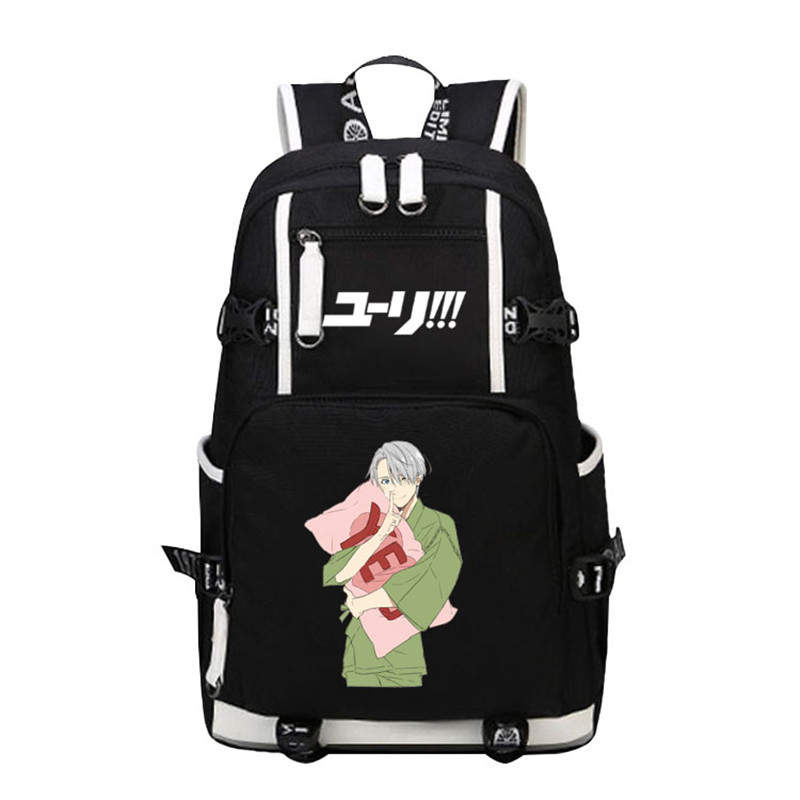 2017 New Anime YURI On ICE Backpack Men Women Laptop Bags for teenagers School Bags Mochila 17 inch College Students Bag anime yuri on ice cosplay yuri plisetsky cos 2017 new casual cartoon student campus backpack child gift