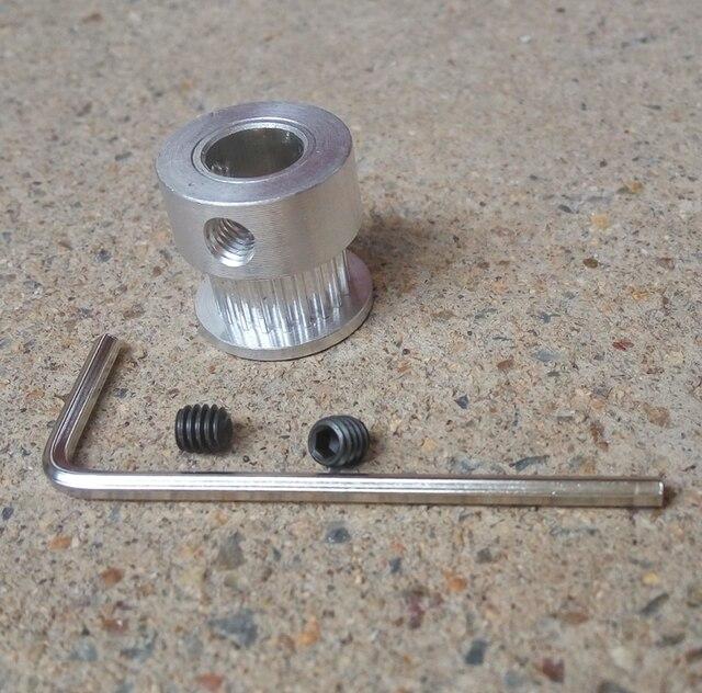 1 pieza de 20 dientes diámetro 5mm 8mm GT2 polea de ajuste 6mm de ancho 2GT Correa impresora 3D CNC de alta calidad