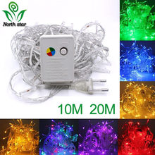 1-10M 100 LEDS 5V USB Batterij LED String lights Zilver Wirelamps luces led decoracion Fairy light voor Christmas Party 9 kleuren(China)