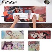MaiYaCa Top Quality Lovely Girls Chocola Nekopara Comfort Mouse Mat Gaming Mousepad Free Shipping Large Pad Keyboards