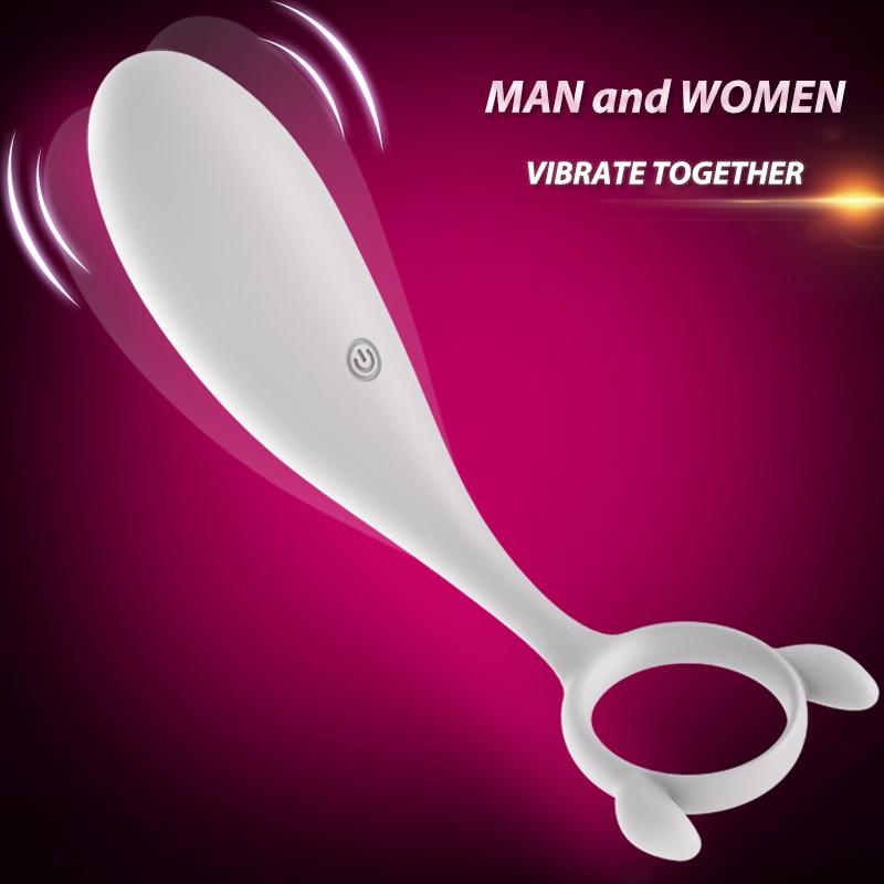2017 New Couples Vibrate Together White <font><b>Anal</b></font> <font><b>Sex</b></font> Toys for Women <font><b>G</b></font> sopt <font><b>Prostate</b></font> <font><b>Massage</b></font> for Men Delay Ejaculation
