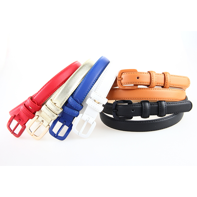 370a9d8ad01c1 Good Quality Womans Genuine Leather Skinny Belt Thin Waist Belt Straps  Narrow Cowhide Designer Belts Pin Belt Ladies For Jeans
