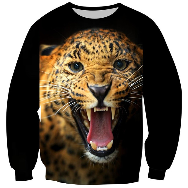 2017 Baby Boys Girls Sweatshirt Children Fleece Sweatshirts 3D Tiger Skull Animal Creative Print Tops Hoodies Children Pullover