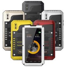 Роскошные Doom Броня металлический Алюминий тяжелых чехол для телефона для iPhone 6 6 S 7 плюс 8X5 5S SE противоударный пылезащитный Водонепроницаемый крышка