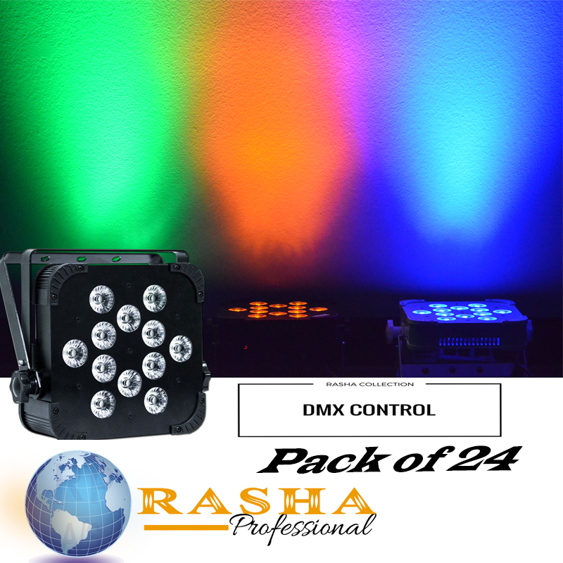 (Pack of 24) Rasha Hex V12 with 6in1 RGBAW+UV Color Leds, Non-Wireless DMX LED Slim Par Light For Stage Event Productions global elementary coursebook with eworkbook pack