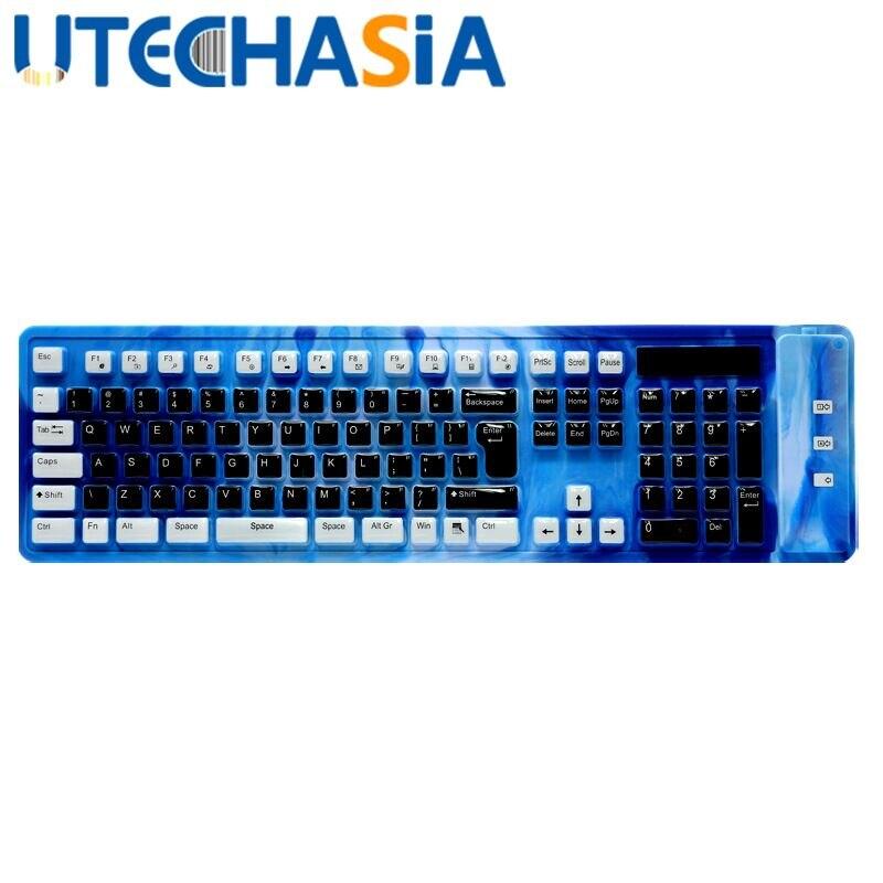 Pliable Silicone souple clavier USB filaire clavier jeu étanche mécanique sensation de jeu clavier pour ordinateur de bureau