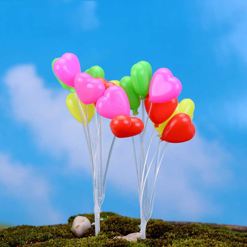 Miniature Figurine Garden Ornament Mini Balloon Plant Fairy Home Decor Simulation Colorful Balloons Micro Landscape Figurines