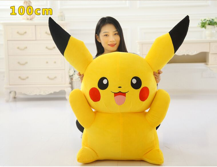 stuffed plush toy huge 100cm cartoon pikachu plush toy soft doll hugging pillow birthday gift b0789 the huge lovely hippo toy plush doll cartoon hippo doll gift toy about 160cm pink