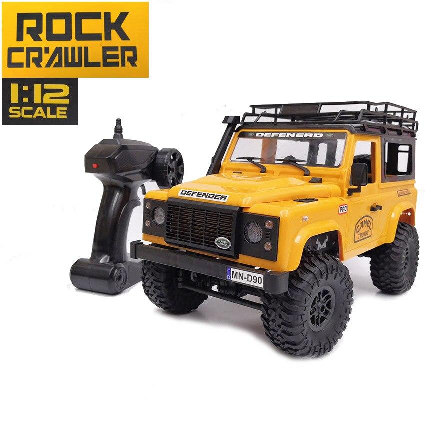Grande taille 1:12 échelle RC rock caterpillar voiture 2.4G 4WD télécommande camion jouets RTR MN D90 rc voiture jouet véhicule modèle