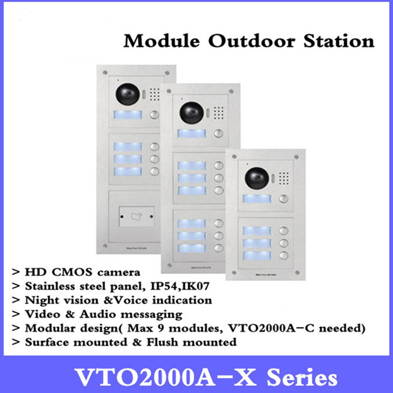 Original DH VTO2000A-C IP Metal Villa Module Outdoor Station intercom Video Door Phone POE P2P Metal Villa Outdoor Station genuine original xiaomi mi drone 4k version hd camera app rc fpv quadcopter camera drone spare parts main body accessories accs