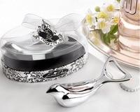 10 Sets Stainless Steel Silver Lark Bird Corkscrew Bottle Openers For Wedding Party Birthday Favor Gift