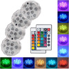10 Led Remote Controlled RGB Submersible Light Battery Operated Underwater Night Lamp Outdoor Vase Bowl Garden Party Decoration 1