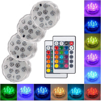10 Led Remote Controlled RGB Submersible Light Battery Operated Onderwater Night Lamp Outdoor Vaas Kom Tuin Partij Decoratie