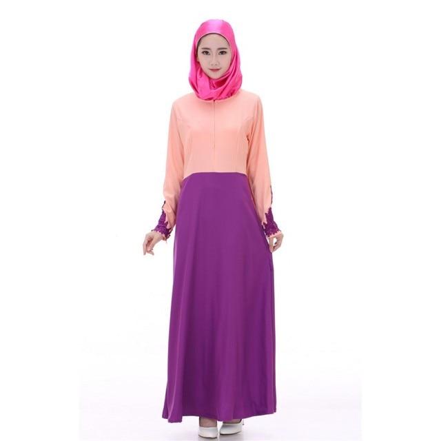 С длинным Рукавом Мусульманское Абая Джилбаба Исламская Макси Платье женская Коктейль Платье