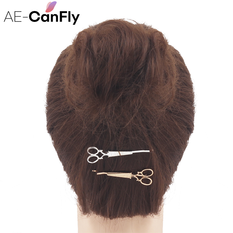 AE CANFLY 1PC Women Hair Accessories Simple Metal Gold ...