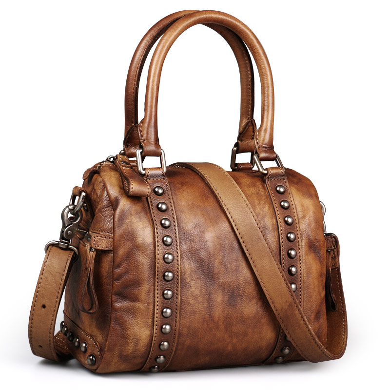 Ruil Fashion retro leather handbag retro small soft bag casual messenger handbagRuil Fashion retro leather handbag retro small soft bag casual messenger handbag