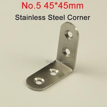 50pcs 45*45*19mm stainless steel angle bracket L shape brushed finish frame board support fruniture hardware K245