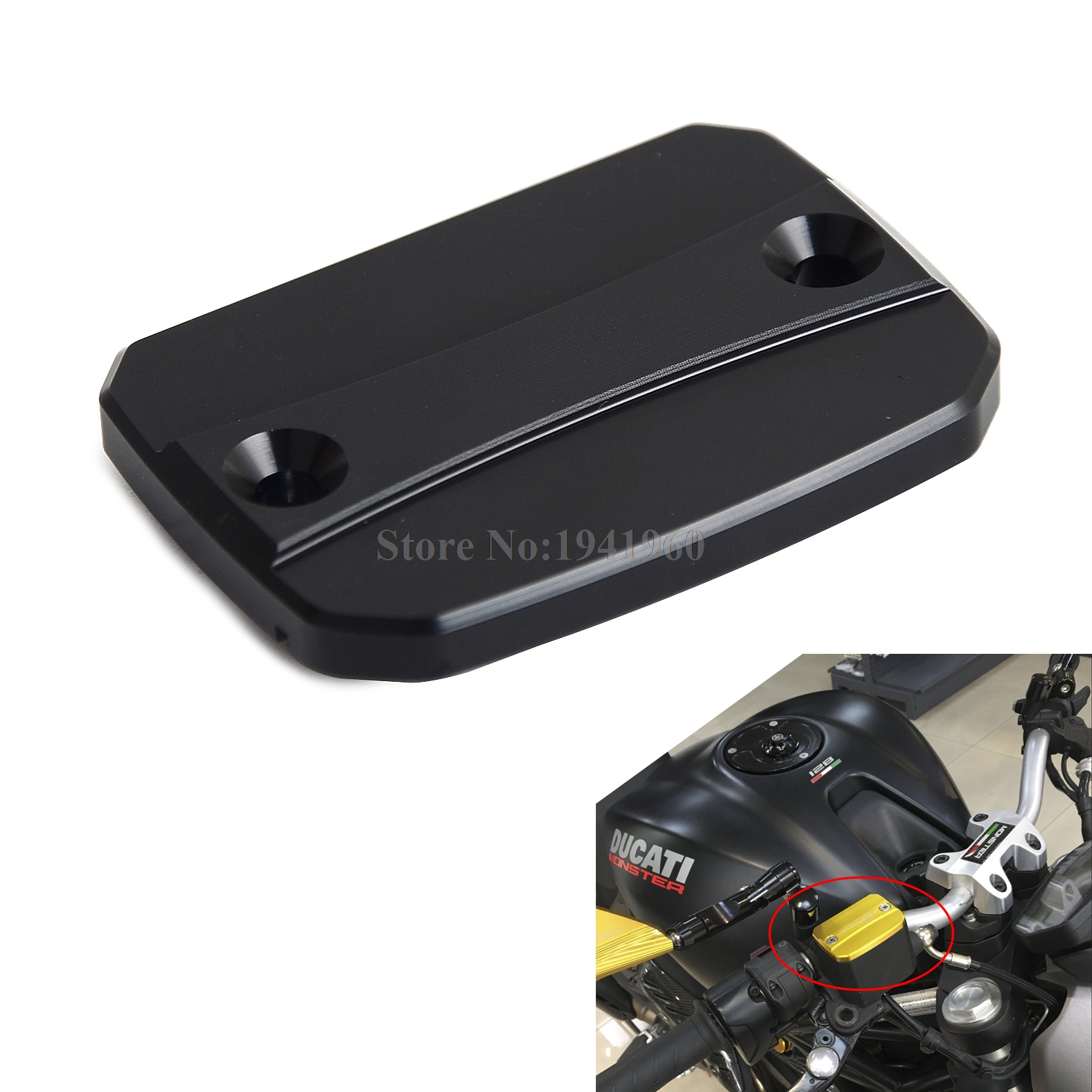 H2CNC Motorycle Brake Fluid Reservoir Cap Cover For Ducati Monster 620 695 696 796 821 S2R 800 Hypermotard 796 Multistrada 620 cnc long brake clutch levers for ducati 400 monster 620 695 696 796 monster s2r 800