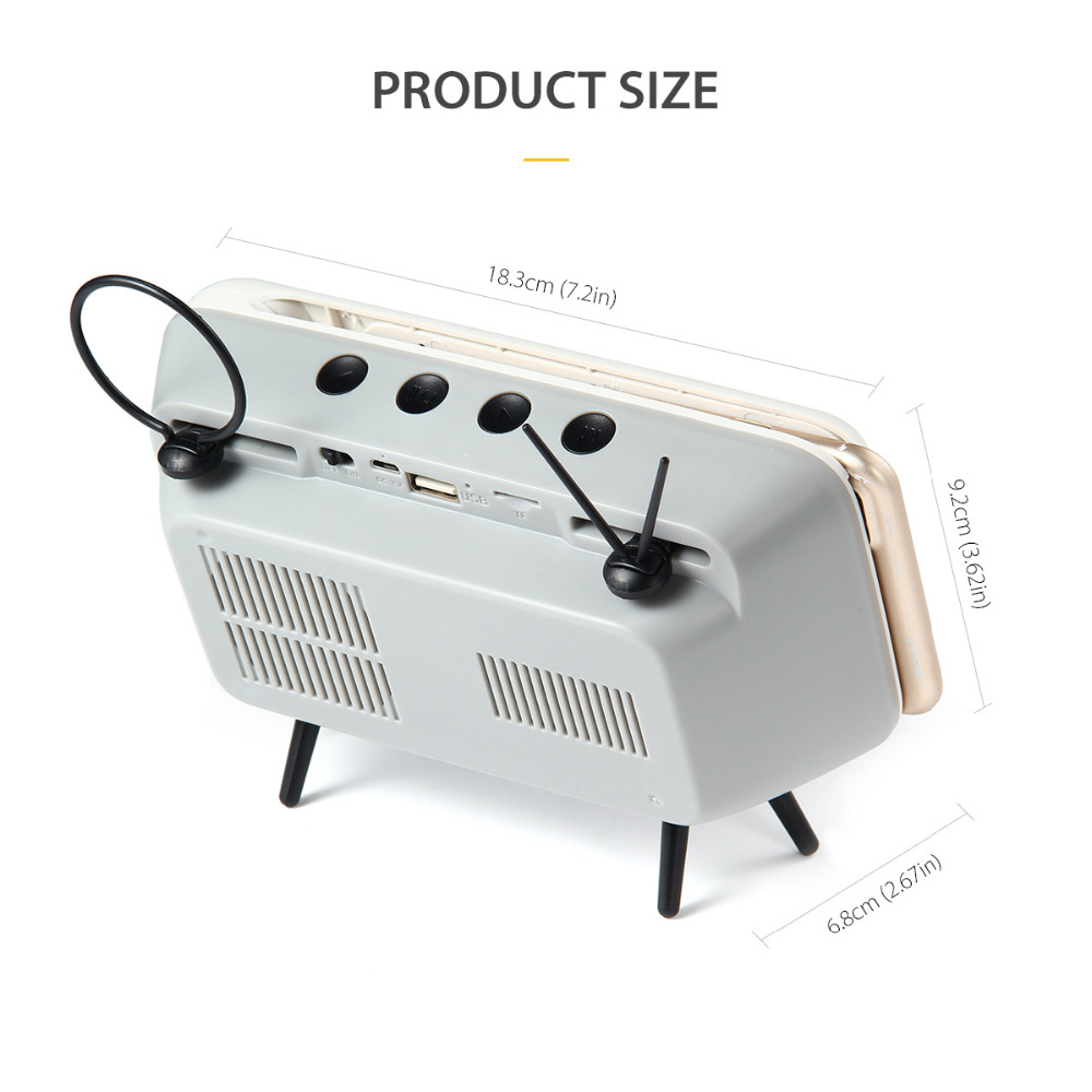 Tragbare klassische bluetooth lautsprecher retro mini tv audio player - Tragbares Audio und Video - Foto 5