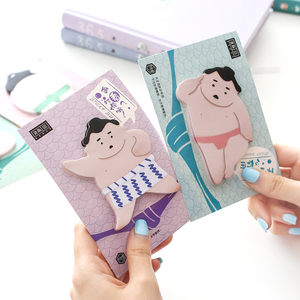 4 pcs/Lot Japanese sumo sticky notes Kawaii post memo pad Self-adhesive sticker Office supplies Material escolar F644